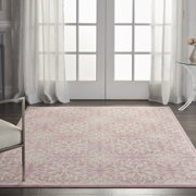 Nourison Jubilant Beach Floral Ivory/Pink Area Rug