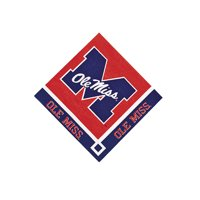 Ncaa U Of Mississippi Beverage Napkins - Party Supplies - Licensed Tableware - Licensed Napkins - 20 Pieces