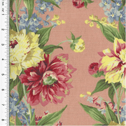 Designer Cotton Blend Multi Floral Print Decorating Fabric, Fabric By the Yard