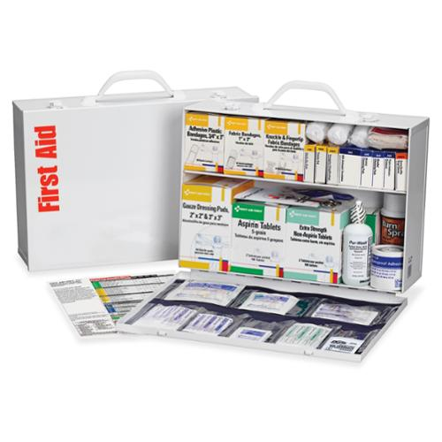 First Aid Only 2-shelf Industrial 1st Aid Station - 516 X Piece[s] For 75 X Individual[s] (245-o-p)