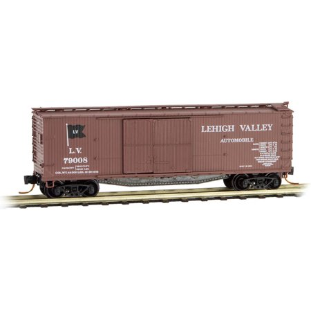Micro-Trains MTL N-Scale 40ft. Wood Box Car Lehigh Valley/LV (Flag Logo) (Lehigh Valley Stores)