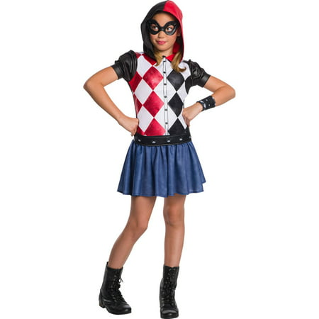 Dc Super Hero Girls Harley Quinn Hoodie - Harley Quinn Arkham Asylum Costume For Sale