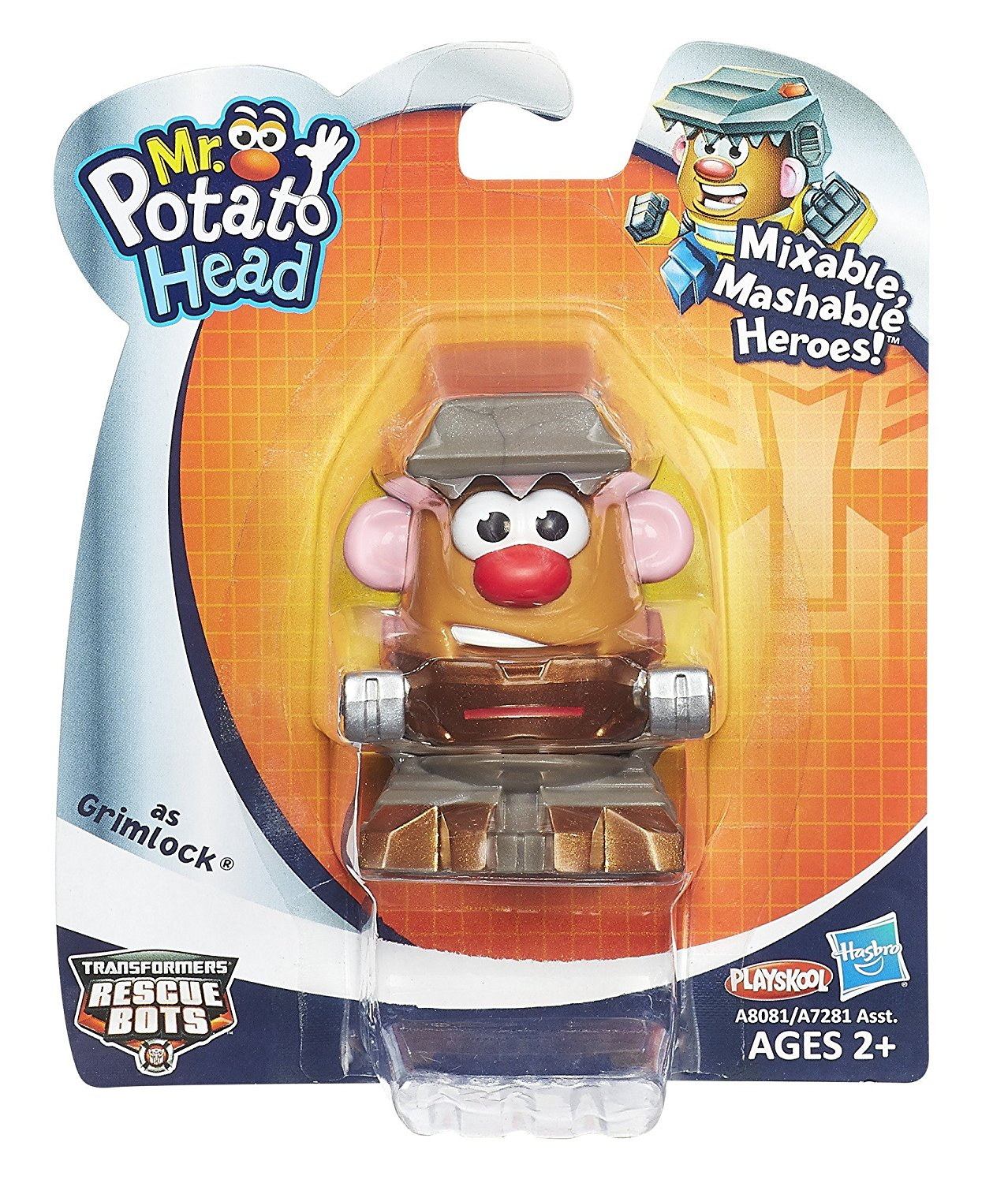 Mr. Potato Head Transformers Mixable Mashable Heroes As Grimlock..., By Playskool Ship... by