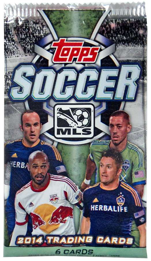 Mls Soccer 2014 Major League Soccer Trading Card Pack Walmart Com Walmart Com