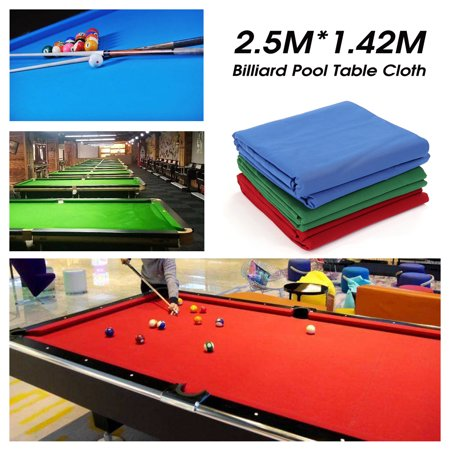 Professional 7ft 8ft Worsted Billiard Pool Table Cloth Billiard Felt Universal Table Cloth for Indoor Games Table ,Green/Red/Blue Billiard Table Felt Cloth