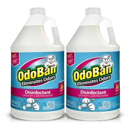 OdoBan Odor Eliminator Freshener and Disinfectant, Cotton Breeze, 2