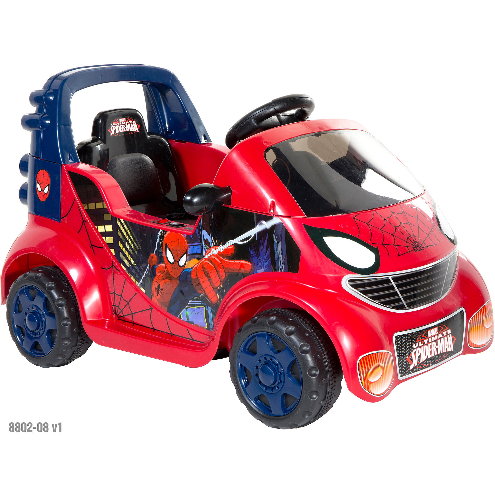 Spider-Man Small Car 6-Volt Battery-Powered Ride-On by Overstock