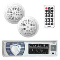 Marine Bluetooth Receiver, White Stereo Kit Bluetooth Marine Stereo Receiver