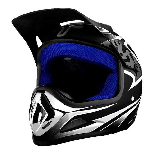 RS Helmets RS-8696-B-Ylarge Off Road Motocross Motorcycle Helmet Matte Black - Large