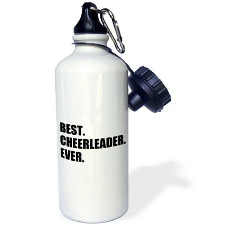 3dRose Best Cheerleader Ever - text - greatest head or team cheerleading girl, Sports Water Bottle, - Cheerleading Gear