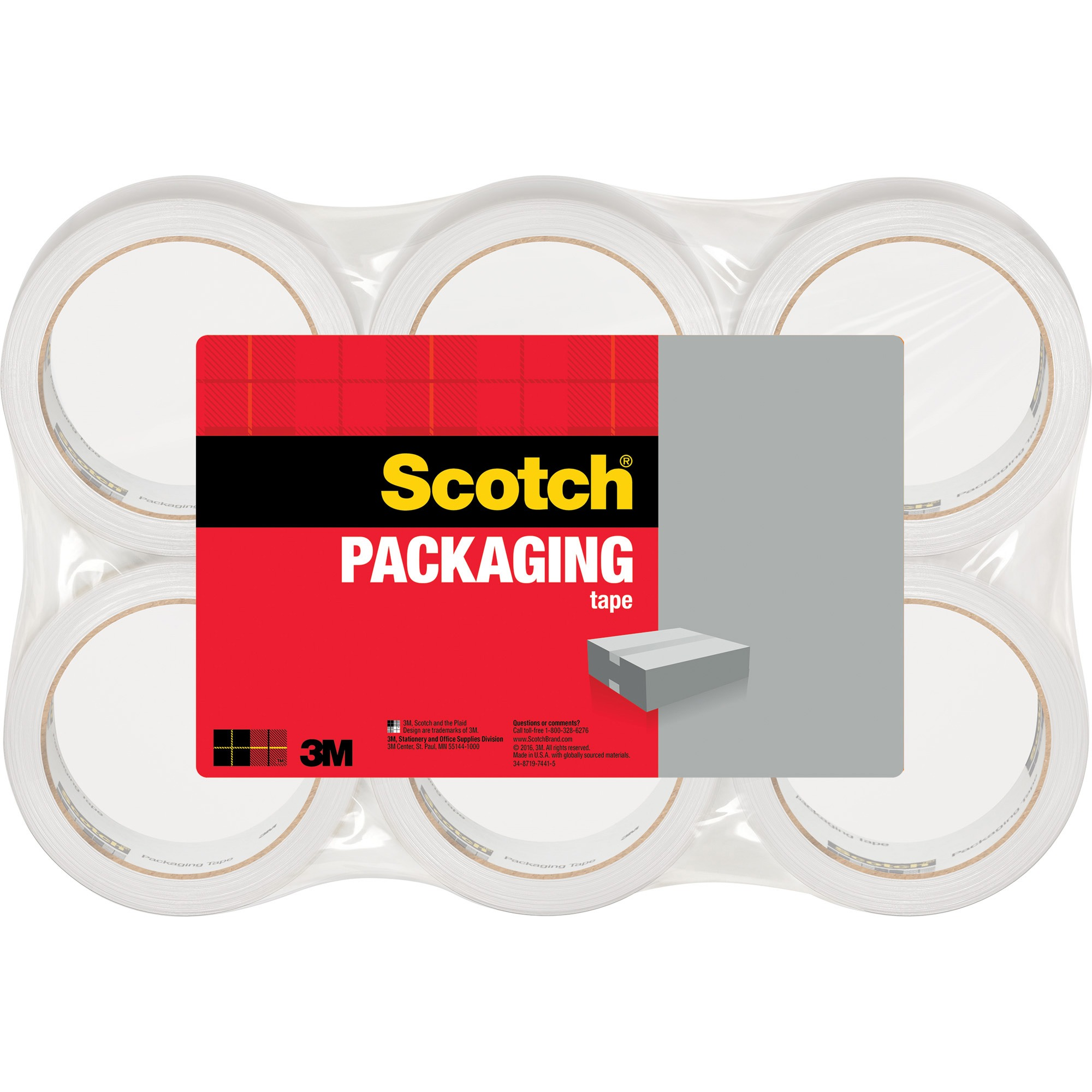 "Scotch Lightweight Shipping Packaging Tape, 1.88"" x 54.60 yds"
