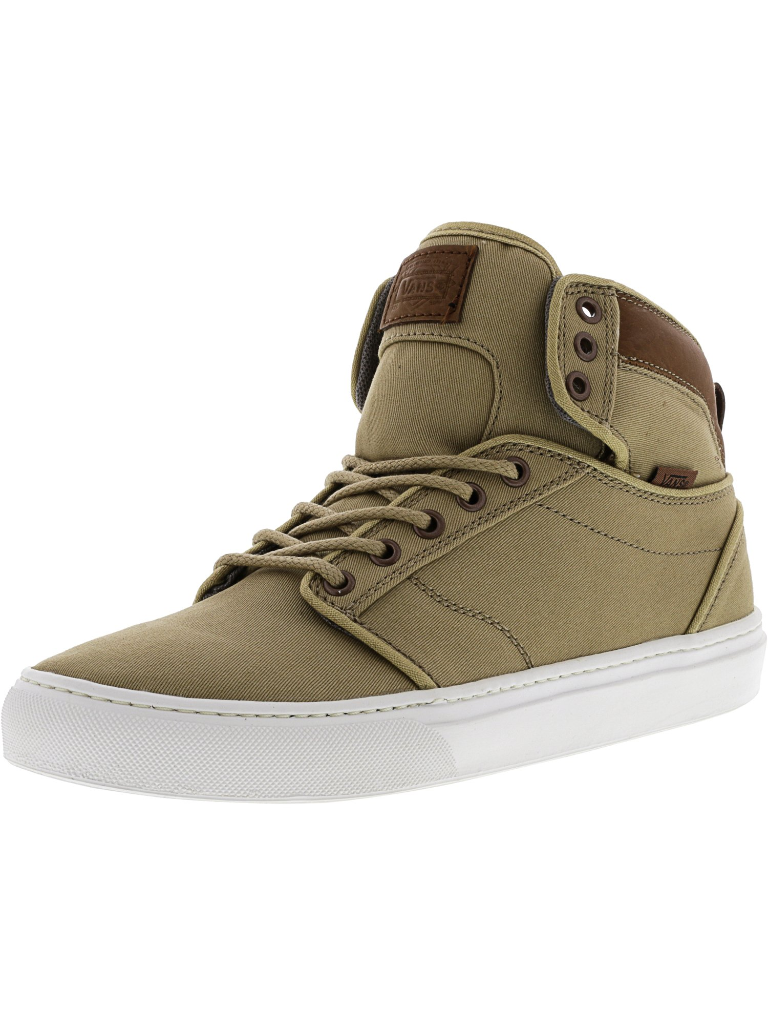 Vans Alomar Textile And Leather Khaki / White High-Top Fabric Skateboarding Shoe - 8.5M 7M