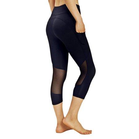 2a02a678b7 OUMY - OUMY Women Compression Capri Cropped Leggings Yoga Pants Gym Fitness  Workout Wear - Walmart.com