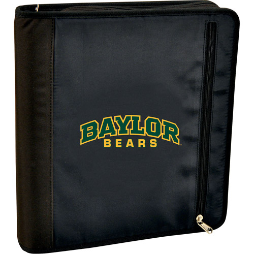 Turner Licensing 3-Ring Zipper Binder, Baylor Bears