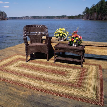 Homespice Decor Out Durable Indoor Outdoor Braided Area