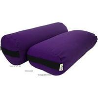 Yoga Bolster Rectangle Cotton - Purple