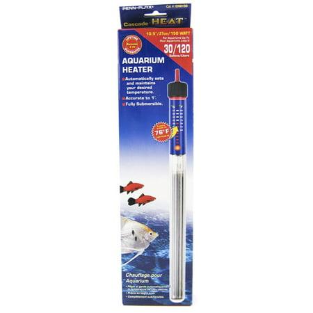 Penn plax cascade heat preset submersible heater 150 for Fish heater walmart