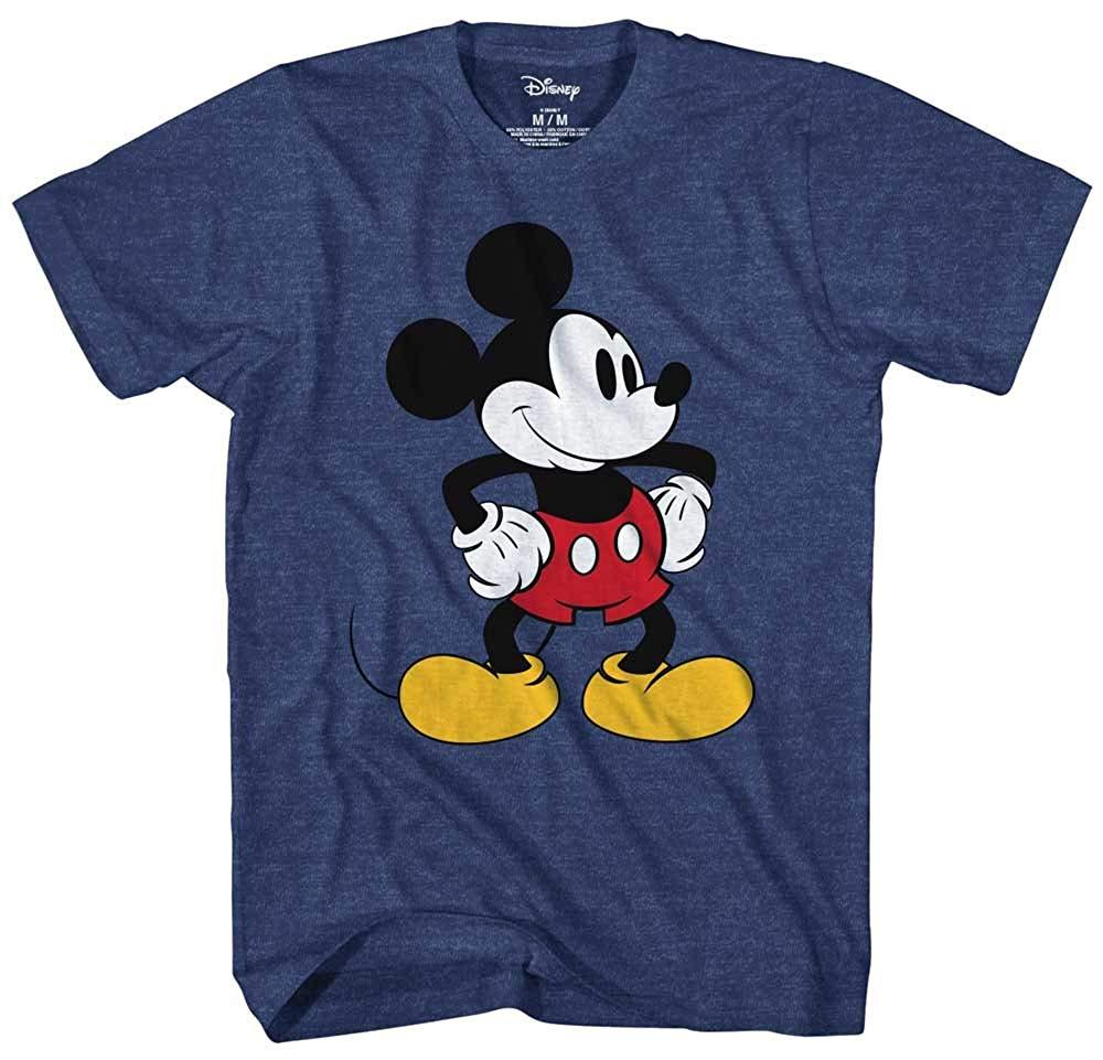 Mickey Mouse Tones Graphic Tee Classic Vintage Disneyland World Mens Adult T-shirt Apparel Navy Heather