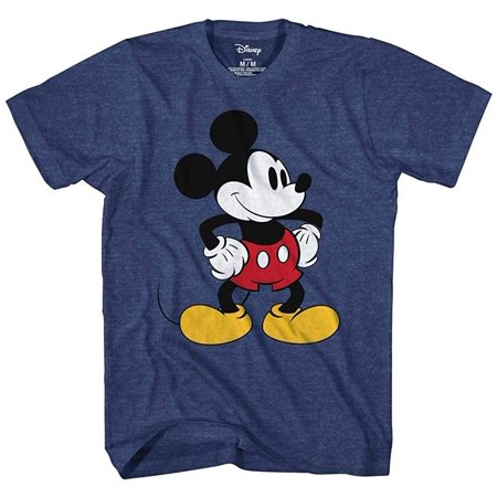 Frozen Apparel For Adults (Mickey Mouse Tones Graphic Tee Classic Vintage Disneyland World Mens Adult T-shirt Apparel Navy)