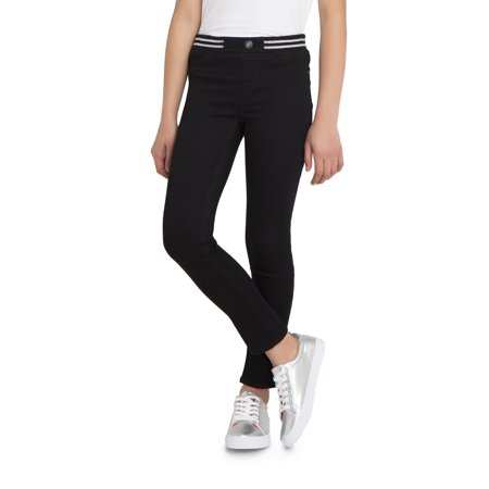 Jordache Rib Waist Skinny Jean, Slim Fit (Little Girls & Big Girls) ()