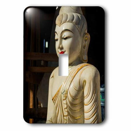 3dRose Myanmar Yangon Ceramic Buddha Single Toggle Switch
