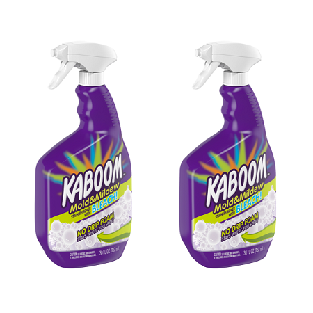 (2 pack) Kaboom™ No Drip Foam Mold & Mildew Stain Remover with Bleach 30 fl. oz. Spray - Mold And Mildew Cleaner