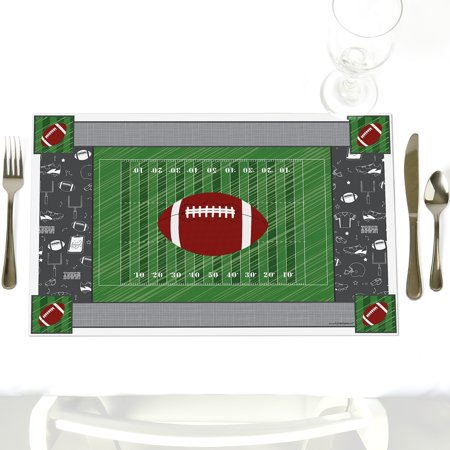 End Zone - Football - Party Table Decorations - Baby Shower or Birthday Party Placemats - Set of 12](Football Birthday)