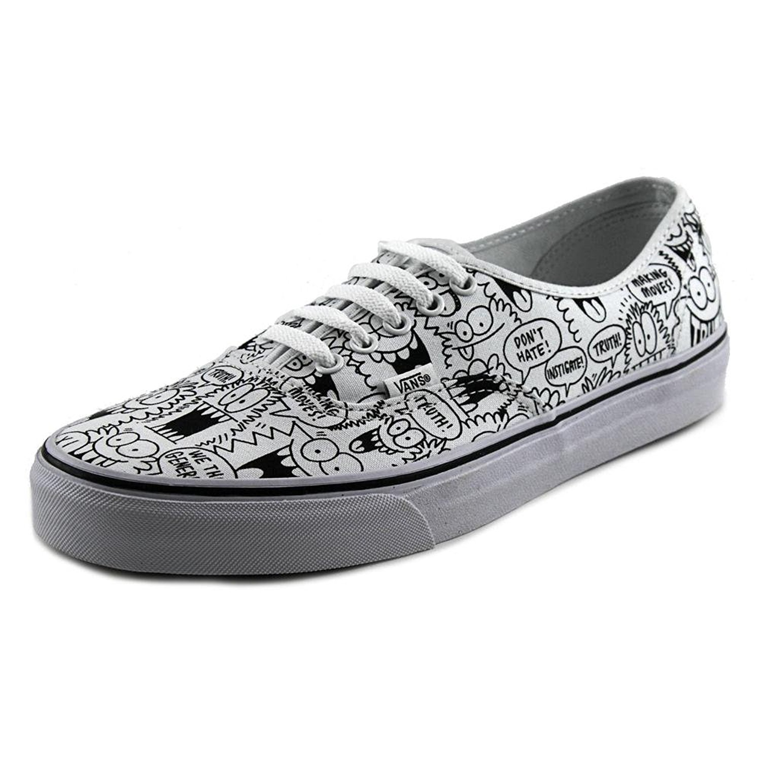 be0daacfe8 Vans - Vans Unisex Authentic Truth Kevin Lyons Skate Shoes-White Black -  Walmart.com