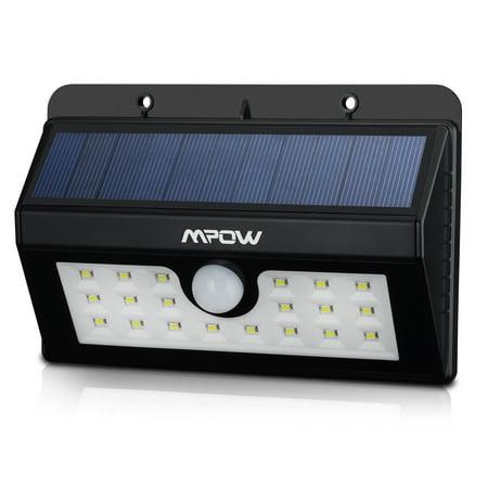 Mpow super bright 20 led solar powered wireless - Led solar jardin ...