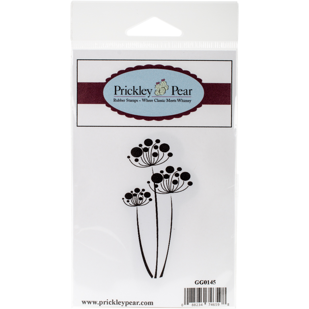 "Prickley Pear Cling Stamps 3.25""X1.5""-Flower Cluster"