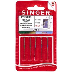 Singer Serger Ball Point Needles - Size 10 & 14