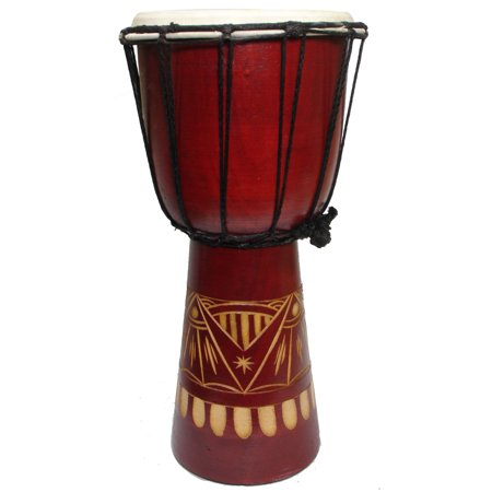 Handmade Abstract Natural Djembe Drum
