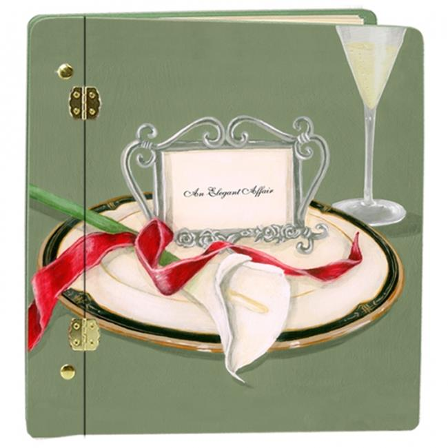 Lexington Studios 12017LG Wedding Table 4 Two Lilly Book Large Album Green by Lexington Studios