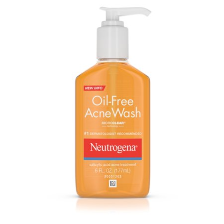 Neutrogena Oil-Free Salicylic Acid Acne Fighting Face Wash, 6 fl. oz Healthy Face Wash