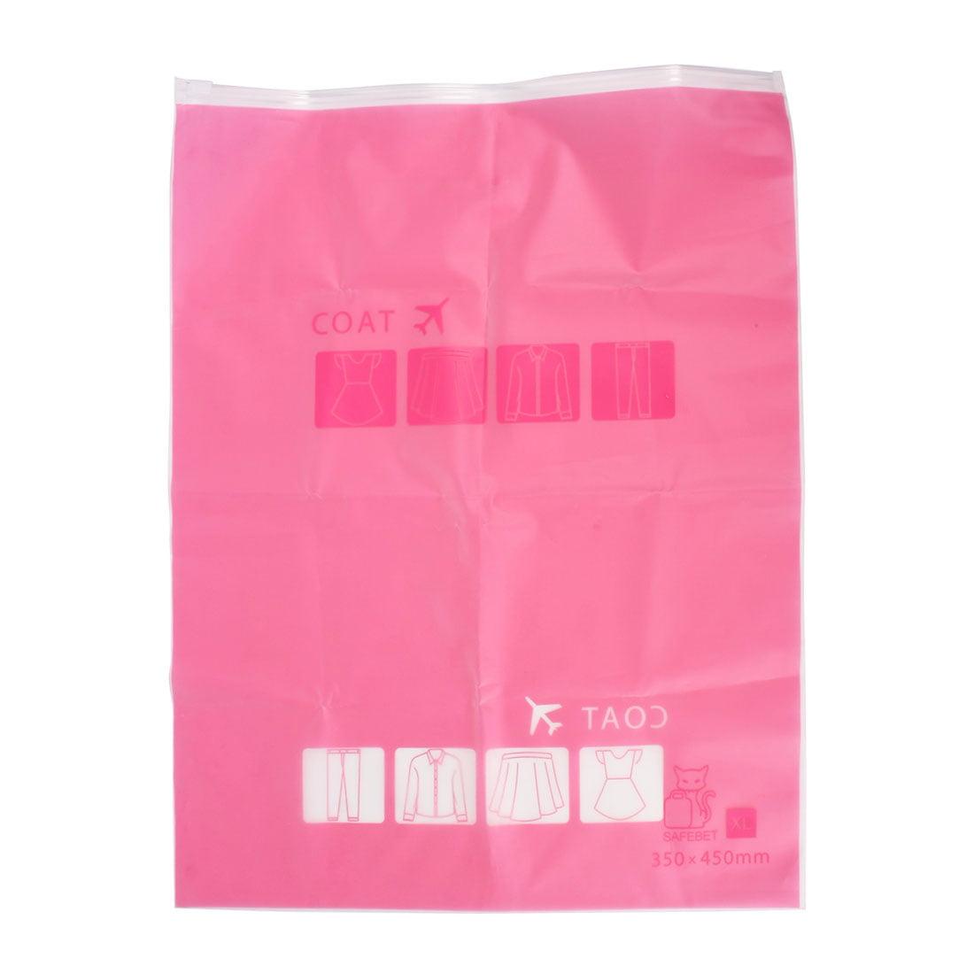 Plastic Water Resistant Travel Clothes Underwear Storage Bag 28x40cm Fuchsia - image 8 de 8