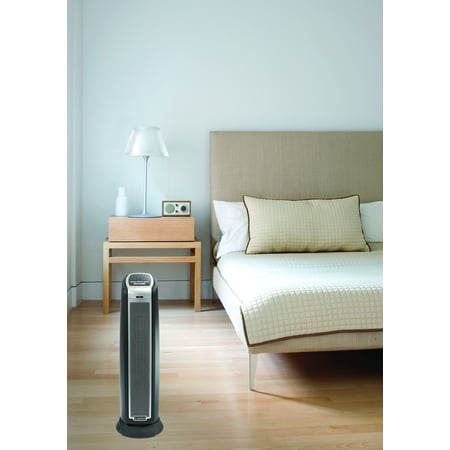 Lasko 1500W Oscillating Ceramic Tower Space Heater with Remote, 5790, Black