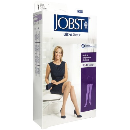 Jobst Ultrasheer 30-40 mmHg Med Natural Thigh High Silicone Lace Strip