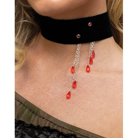 - Vampiress Blood Drop Choker Jewelry Horror Adult Halloween Costume Accessory