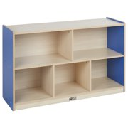 Colorful Essentials 5-Compartment Storage Cabinet 30in H - Maple/Blue