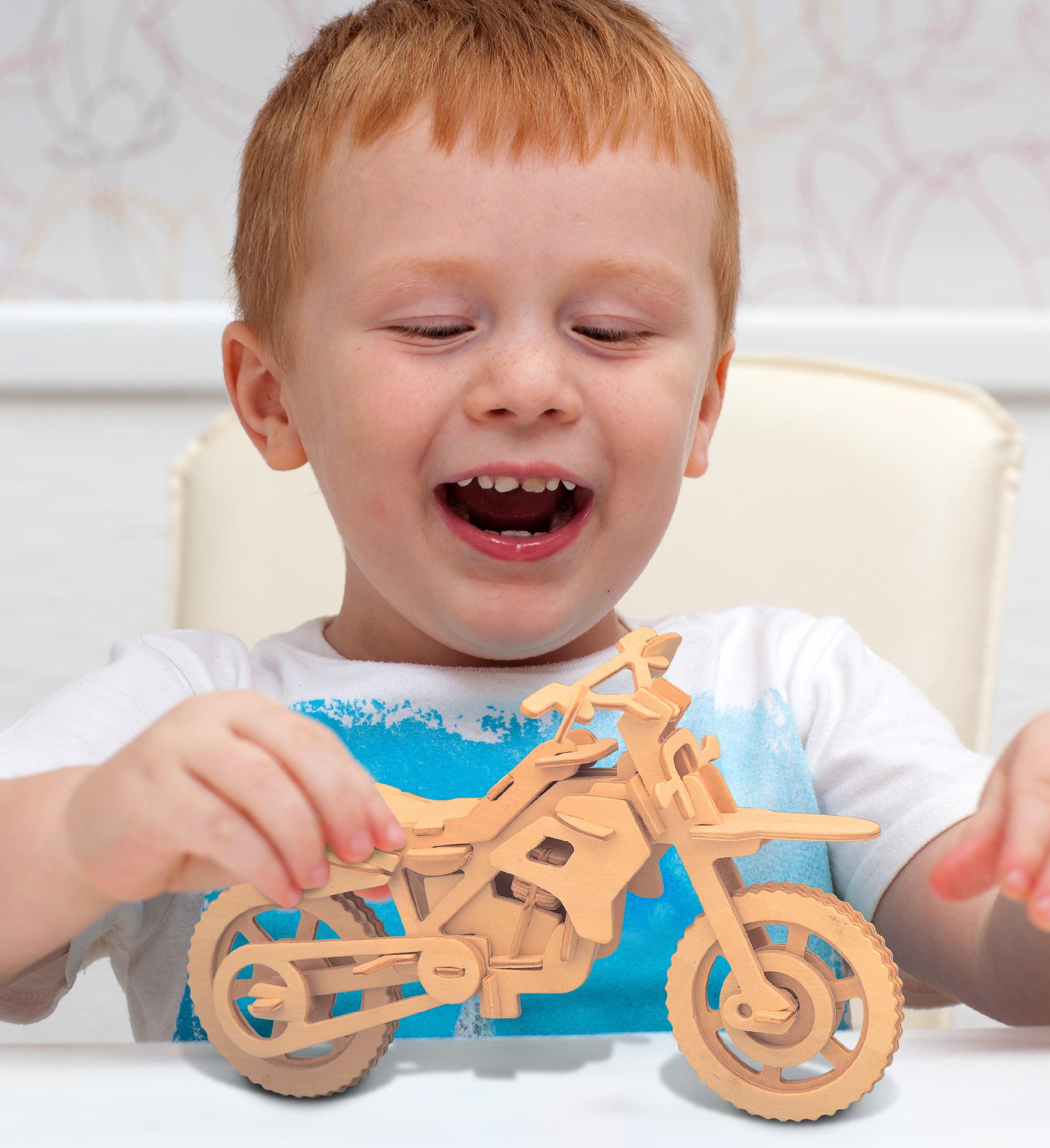 DIY Car 3D Wooden Modelling Kit Model Woodcraft Jigsaw Puzzles Children Toys