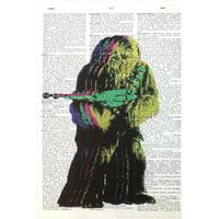 Art N Wordz Star Wars Chewy Rocks Original Music Sheet Pop Art Wall or Desk Art Print Poster