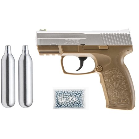 - Umarex XCP Air Pistol Kit, Includes: 2 C02 + 250 BBs + Pistol
