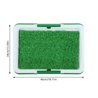 Yosoo Dog Pet Potty Mat Grass Pad with Mesh+Collection Tray Home Indoor Restroom Toilet Pee Training, Potty Mat with Tray, Pet Pee Training Mat