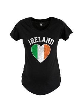 Ireland Heart-MATERNITY Scoop Neck Tee