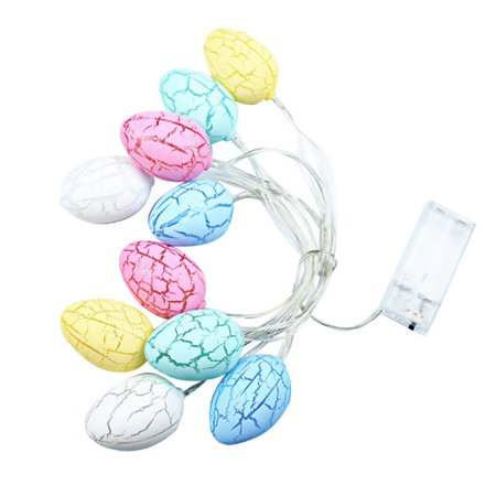 LED Eggs Lights String Battery Operated Indoor Home Tree Party Decorations](Egg On A String)