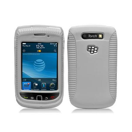 White Hybrid Hard Case Cover for Blackberry Torch 9800 9810 ()
