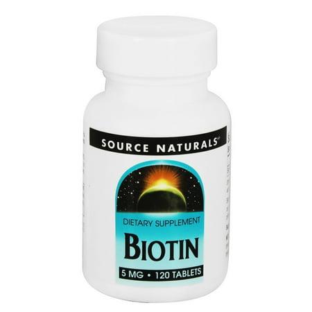 Source Naturals Source Naturals  Biotin, 120 ea