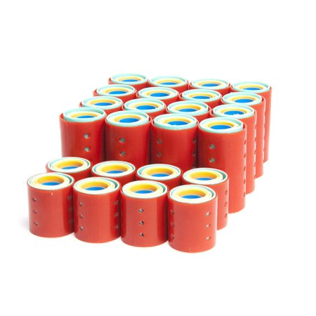Magnetic Roller Set, 144-Piece, Includes 16 pieces of medium rollers in each of 6 sizes By Diane ()