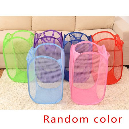 3 Pack Foldable Mesh Washing Basket Storage Basket Box For Toy Dirty Clothes
