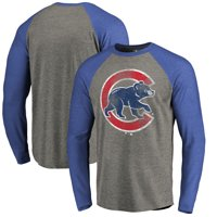 0dda27dc6be Product Image Chicago Cubs Fanatics Branded Distressed Team Big   Tall Long  Sleeve Tri-Blend Raglan T